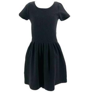 Ganni Anthropologie Black A-Line Dress Size Medium